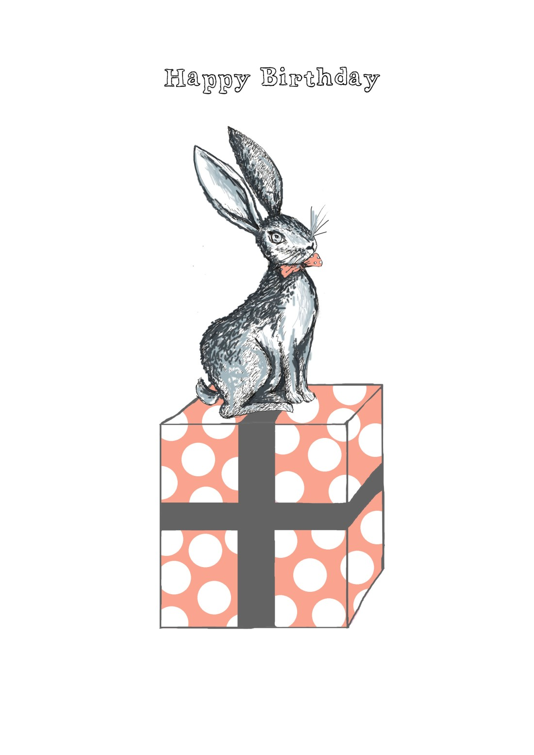 rabbit on present with text improved