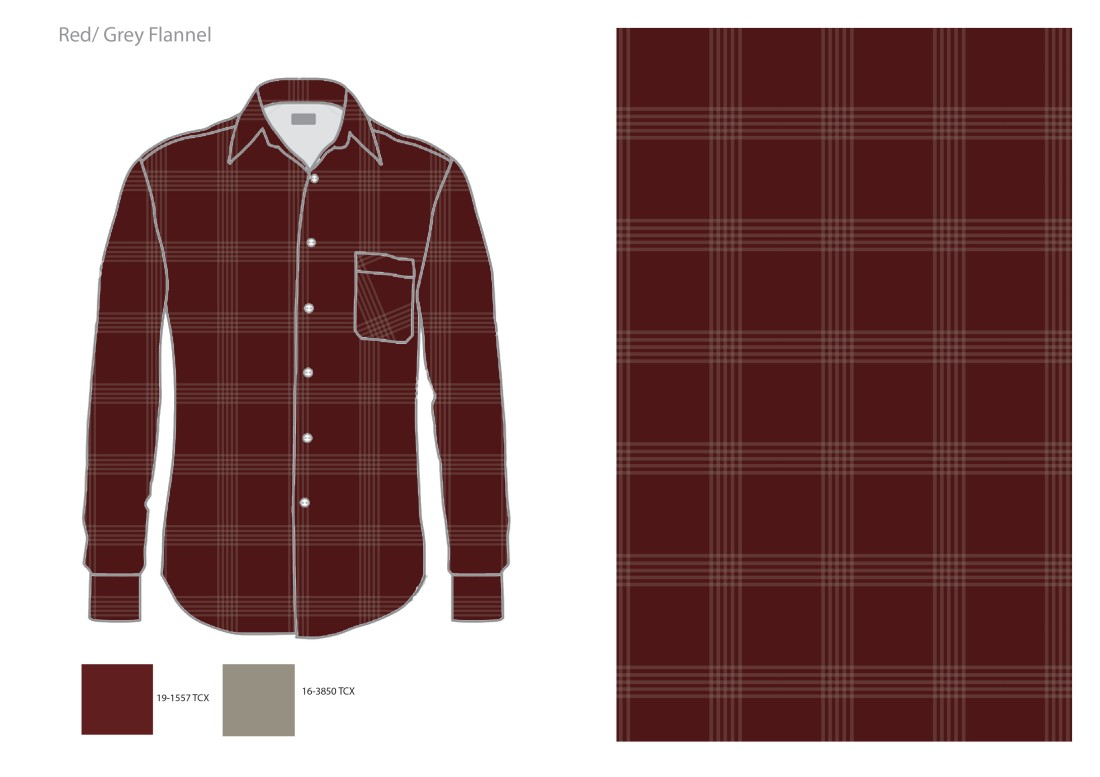 red grey flannel