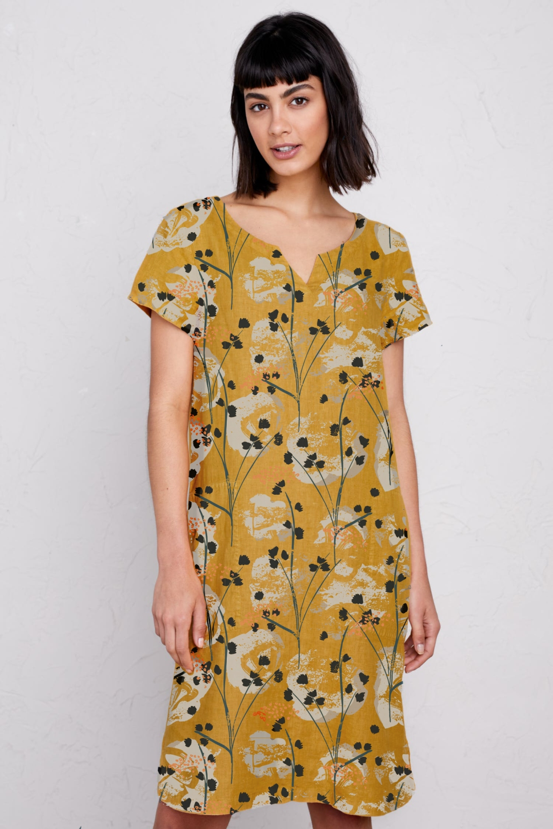 yellow floral sea kissed dress