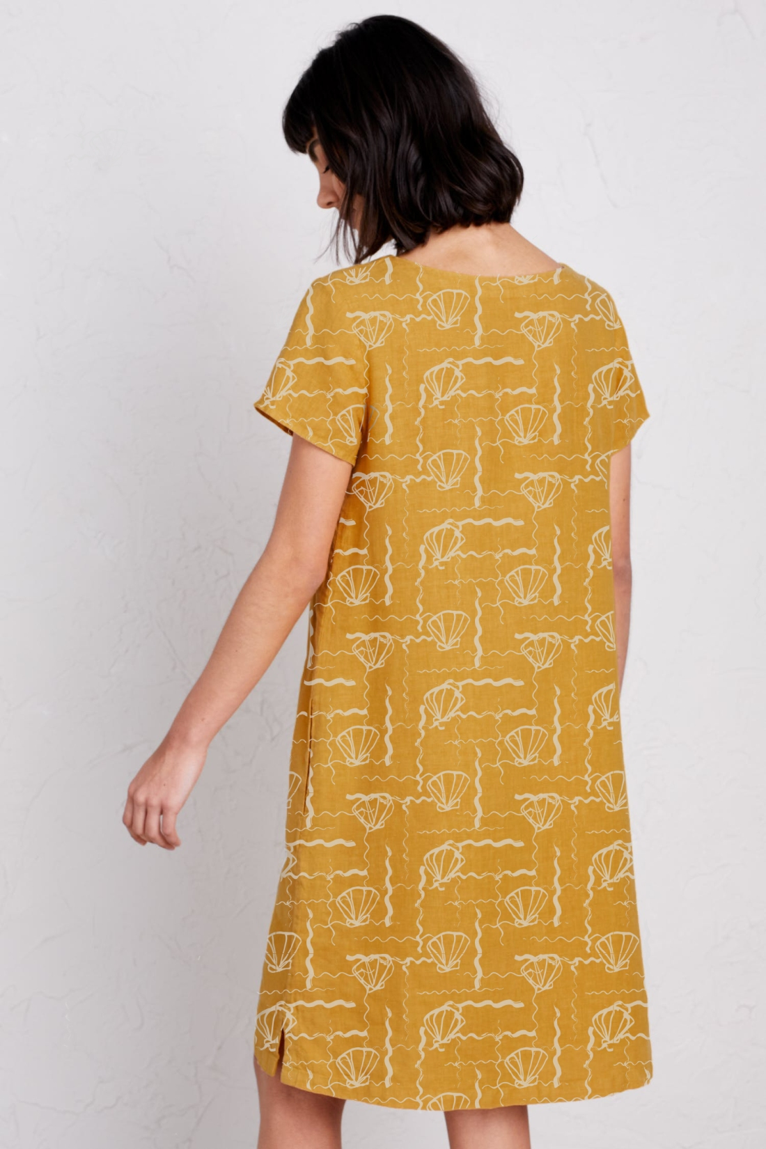 yellow shells dress