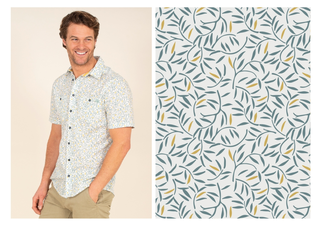 SS21 leaf printed shirt-01